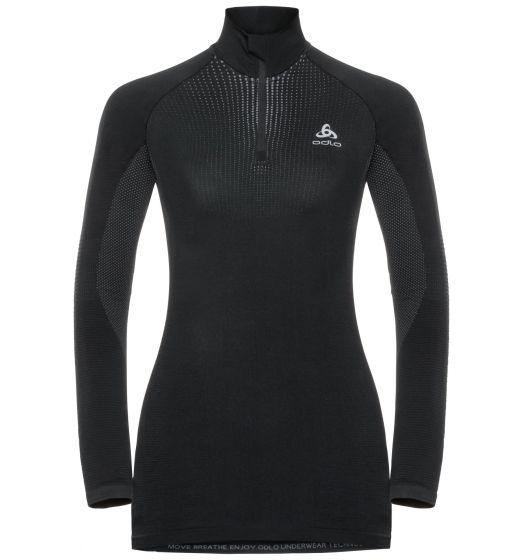 Odlo, Performance Warm BL, thermoshirt, dames, zwart