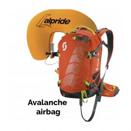 Scott, Air Free Alpride 22 Kit Pack lawine airbag rugzak, Oranje-Grijs