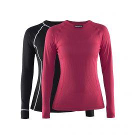 Craft, Active 2-Pack Tops W thermoshirt dames fame Roze/Zwart
