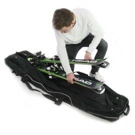 Accezzi, Double ski trolley, skitas, zwart