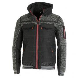 Almgwand, Aberg ski-jas heren knit Grijs/Zwart