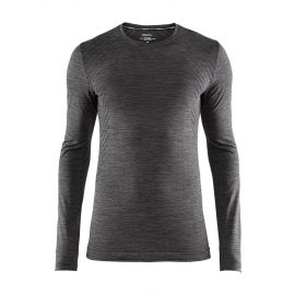Craft, Fuseknit comfort RN LS thermoshirt heren Melange Zwart