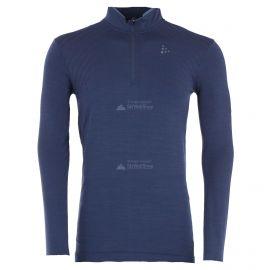 Craft, Fuseknit comfort zip thermoshirt heren Burst Blauw