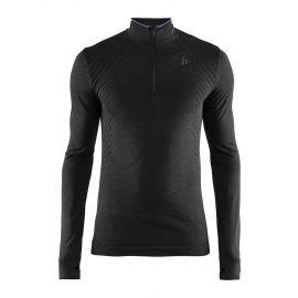 Craft, Fuseknit comfort zip thermoshirt heren Zwart