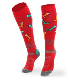 Deluni, Joyride Socks on Socks, skisokken, rood