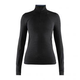Craft, Fuseknit comfort zip thermoshirt dames Zwart