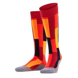 Falke, SK4 Brick, skisokken, dames, ruby rood