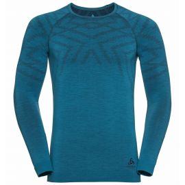 Odlo, Natural + Kinship Warm BL, thermoshirt, heren, melange blauw
