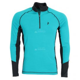 Peak Performance, Magic Half Zip, thermoshirt, heren, deep aqua blauw