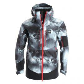 Picture, Track, ski-jas, heren, aravis print zwart