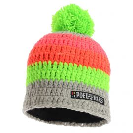 Poederbaas, Short colorful, muts, grijs/groen/oranje