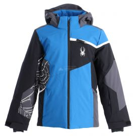 Spyder, Challenger, ski-jas, kinderen, old glory blauw/zwart