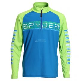 Spyder, Limitless peak zip T-neck, skipully, kinderen, old glory blauw