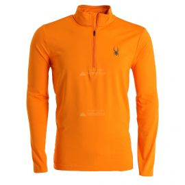 Spyder, Prospect Zip T-Neck, skipully, heren, flare oranje