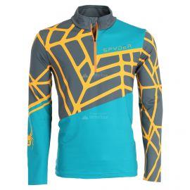 Spyder, Vital zip T-neck, skipully, heren, swell blauw/oranje