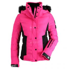 Superdry, Luxe Snow Puffer, ski-jas, dames, luminous sheen roze