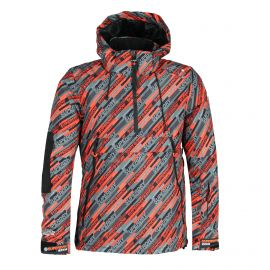 Superdry, SD Mountain Overhead Jacket, ski-jas, heren, snow speed aop multicolor
