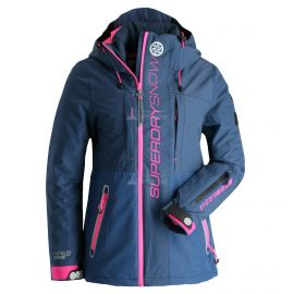Superdry, Slalom Slice, ski-jas, dames, Vortex navy mix blauw