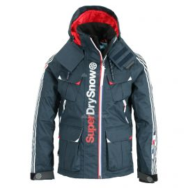 Superdry, Ultimate Snow Combat, ski-jas, heren, deep tricolore