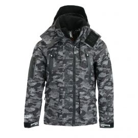 Superdry, Ultimate Snow Rescue, ski-jas, heren, Dot Camo zwart