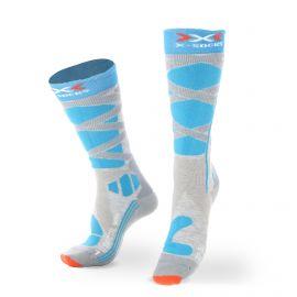 X-socks, SKI CONTROL 4.0 WMN, skisokken, Terquoise blauw/grijs