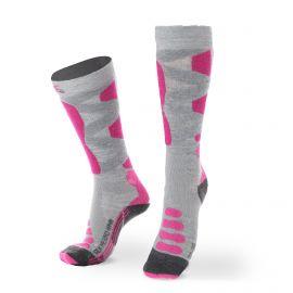 X-socks, SKI SILK MERINO 4.0 WMN, skisokken, grijs/roze