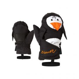 Ziener, Lafauna AS Minis, skiwanten, kinderen, zwart (pinguin), 1-6 jr