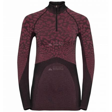 Odlo, Blackcomb BL, thermoshirt, dames, cerise zwart