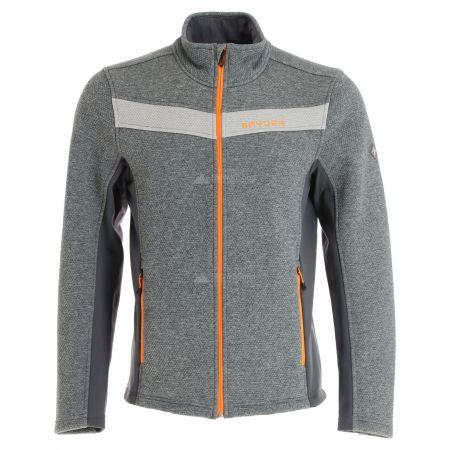 Spyder, Encore full zip fleece, vest, heren, ebony grijs