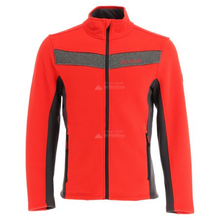 Spyder, Encore full zip fleece, vest, heren, volcano rood