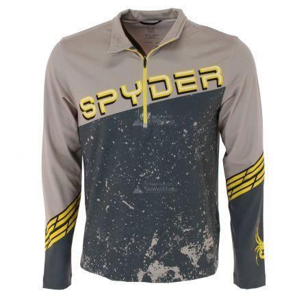 Spyder, Mandate zip T-neck, skipully, heren, alloy grijs