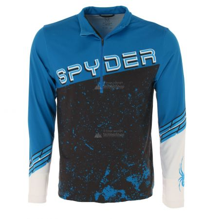 Spyder, Mandate zip T-neck, skipully, heren, old glory blauw