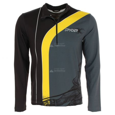 Spyder, Rival zip T-neck, skipully, heren, geel/zwart