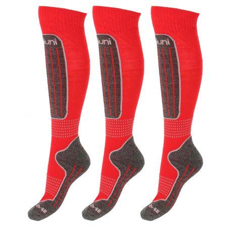 Deluni, 3 paar, skisokken, rood