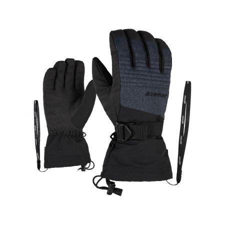 Ziener, Gannik AS, skihandschoenen, denim grijs
