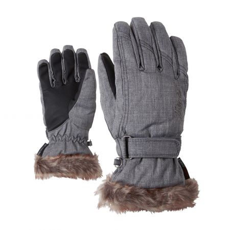 Ziener, Kim Lady skihandschoenen, dames, grijs melange