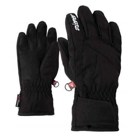 Ziener, Lati AS PR, handschoenen, kinderen, zwart