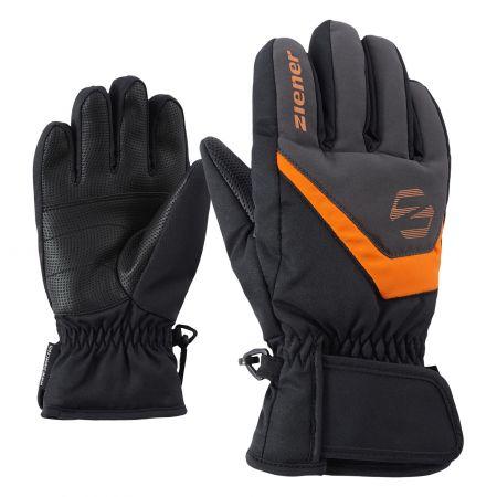 Ziener, Lorik, handschoenen, kinderen, graphite zwart