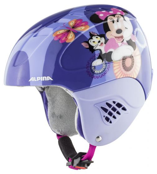 Alpina, Carat set Disney (helm en goggle), skihelm, kinderen, MInnie Mouse  paars