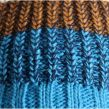 Buff, Knitted & polar Stig, muts, teal blauw