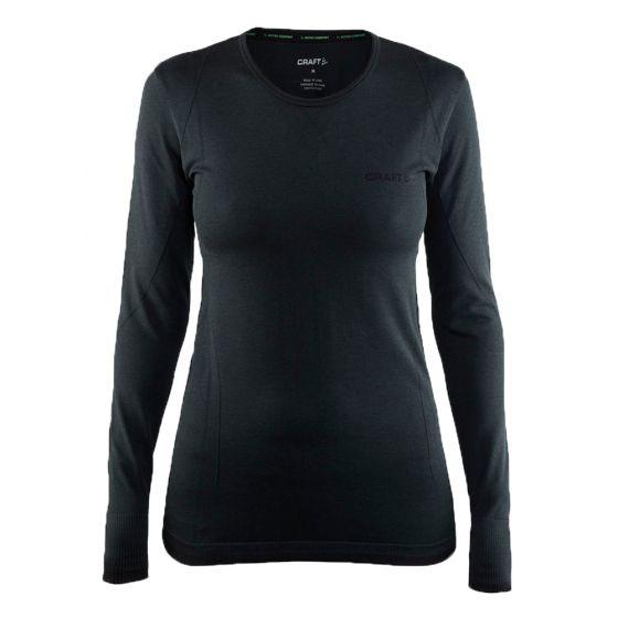 Craft Be Active Comfort RN LS W, Thermo Shirt Dames, Zwart