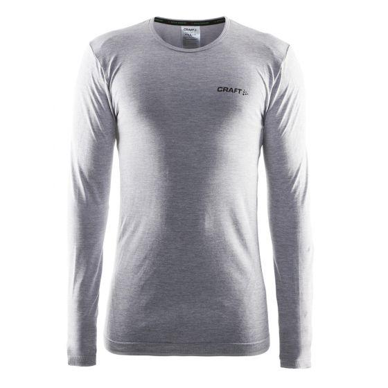 Craft Be Active Comfort RN LS M, Thermo Shirt Heren, Grijs Melange