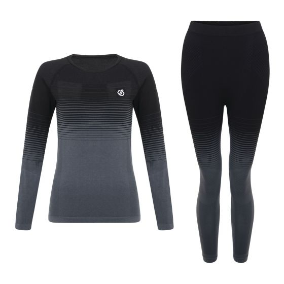 Dare2b, In the zone base layer thermoset dames Zwart
