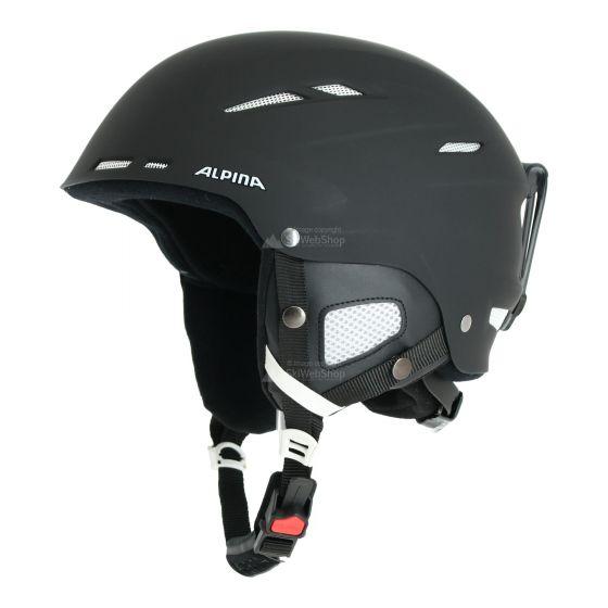 Alpina, Biom ski helmet helm matt Zwart