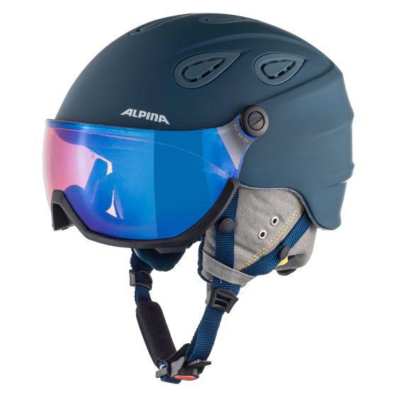 Alpina, Grap visor 2.0 HM, skihelm met vizier, unisex, ink-grey matt Grijs