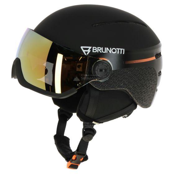 Brunotti, Robotic 3 (Cat.2), skihelm met vizier, zwart
