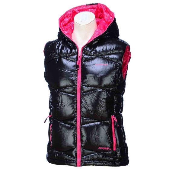 Envy, Eli I bodywarmer dames, zwart-rose