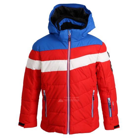 CMP, ski-jas, kinderen, ferrari rood/wit/royal blauw