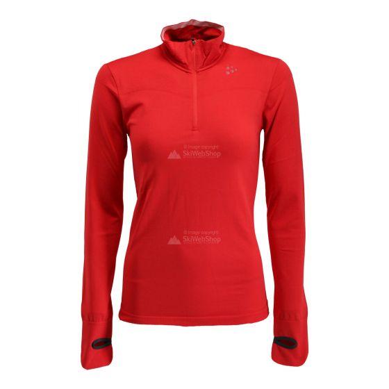 Craft, Fuseknit comfort zip, thermoshirt, dames, Beam roze