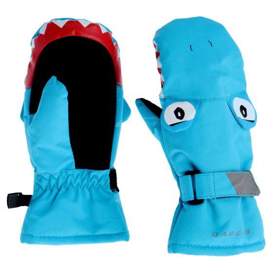 Dare2b, Look Out , wanten, kinderen, fluro shark blauw